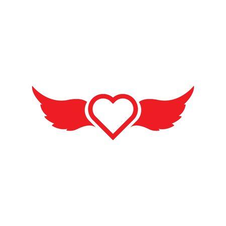 ange, amour, vecteur, icône, illustration, conception, modèle