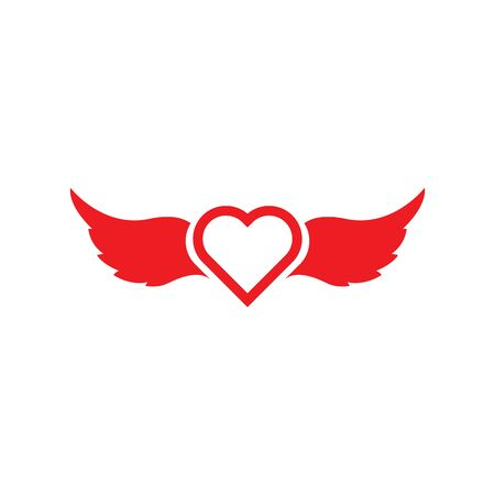 Angel Love Vector icon illustration design Template