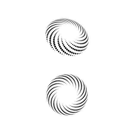 Icône de vortex Vector Illustration design Logo template