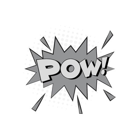 Comic Text, Pop Art style.Cartoon sound effect illustration