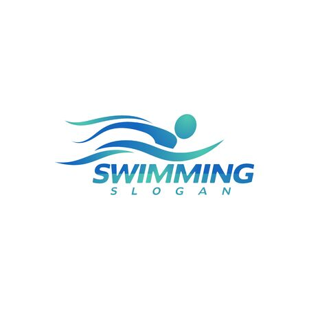 swimming Vector illustration Icon design Template Vectores