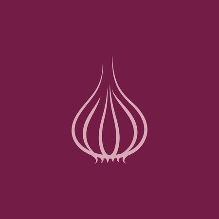 Garlic vector icon illustration design template