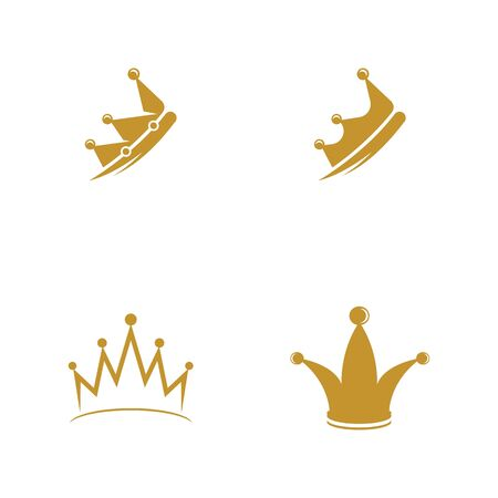 Crown Logo Template vector icon illustration design Logo