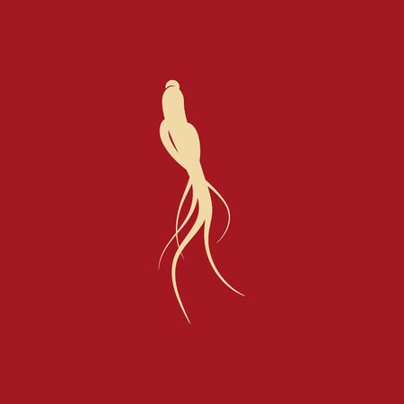 Ginseng vector icon illustration design template