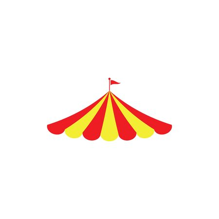 Ikona cyrku Ilustracja wektorowa projekt Logo szablon Logo