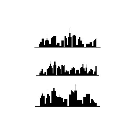 city skyline vector silhouette illustration
