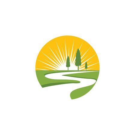 River icon Vector Illustration design Logo template