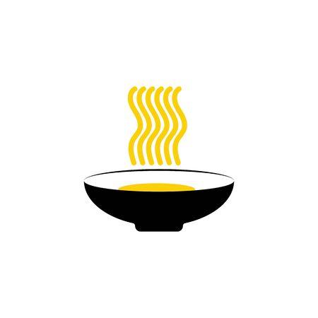 Noodler icon Vector Illustration design Logo template