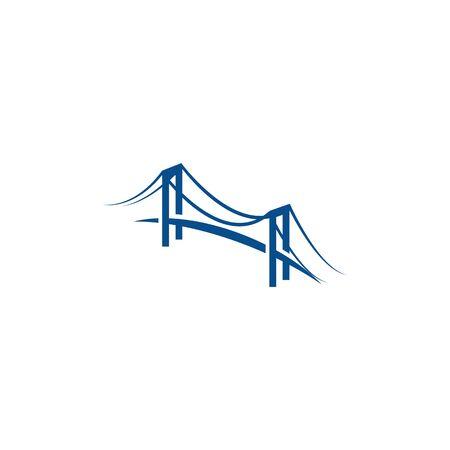 Modèle de logo de pont vector icon illustration design Logo