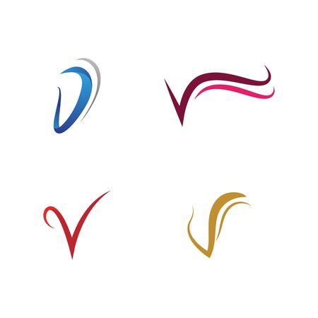 V Letter icon Template vector illustration design