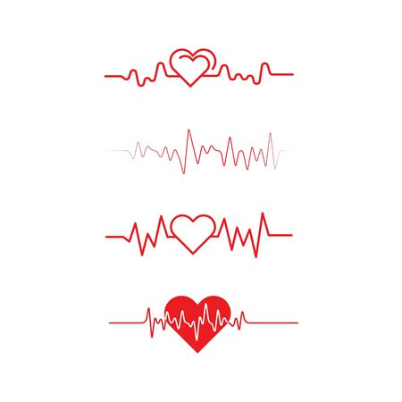 Art design health medical heartbeat pulse icon illustration