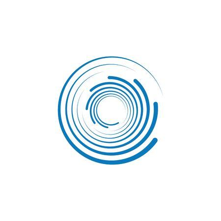 Spiral icon Template vector illustration design