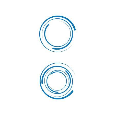 Spiral icon Template vector illustration design Ilustración de vector