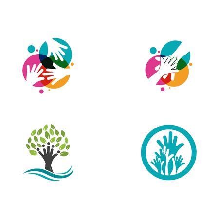 Hand Care icon Template vector illustration design