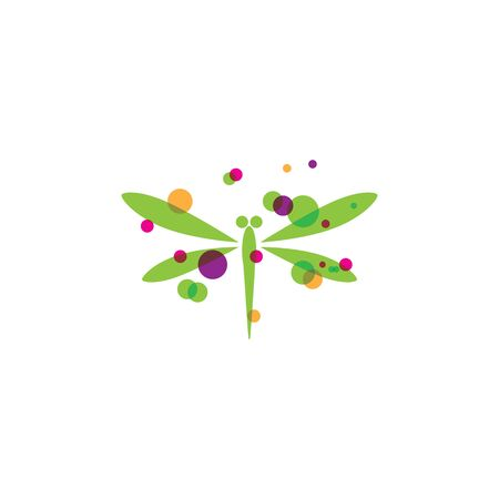 Dragonfly illustration icon design template vector Banque d'images - 140980561