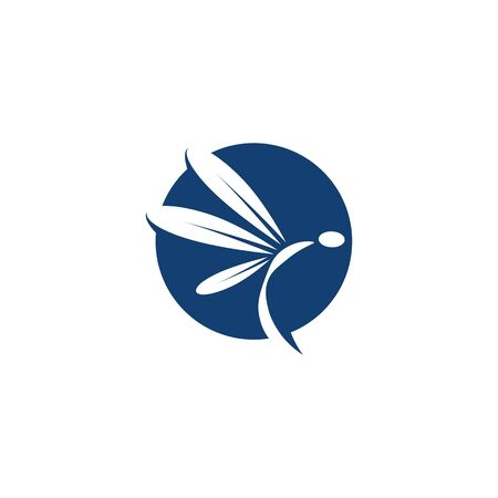 Dragonfly illustration icon design template vector Banque d'images - 140980573
