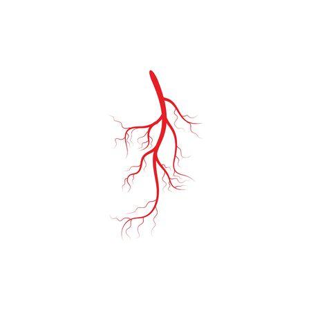 Arteries icon Vector Illustration design Logo template Vettoriali