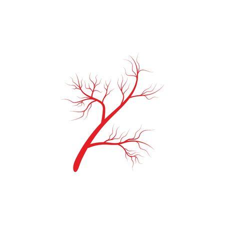 Arteries icon Vector Illustration design Logo template