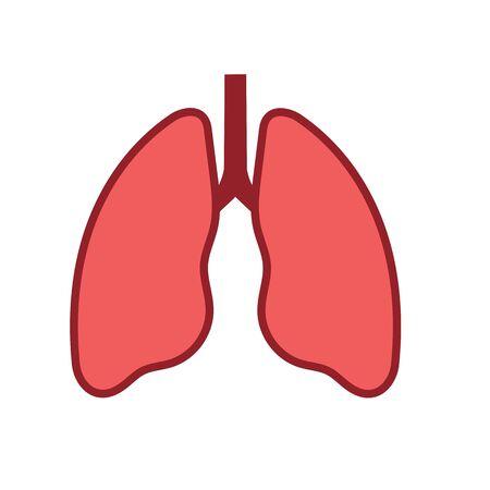 Lung Vector Illustration design  template Ilustracja