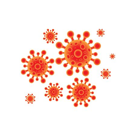 Virus corona vector illustration icon template design