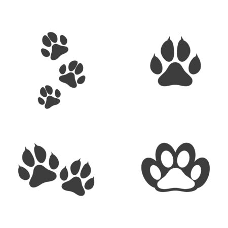 Paw Icon design vector illustration design template