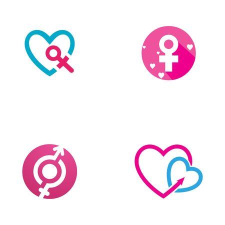 Gender illustrationTemplate vector icon