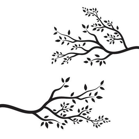 plantilla de diseño de ilustración de vector de rama de árbol