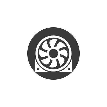 Fan vector illustration icon Template design Vetores