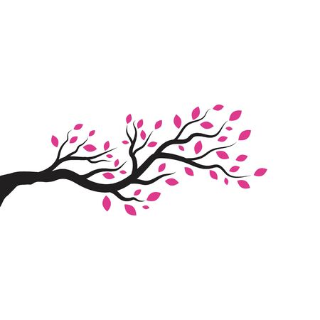 tree branch vector ilustration design template