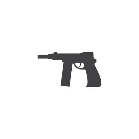 Gun Illustration Template vector icon design