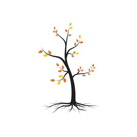 modèle de conception d'illustration vectorielle de branche d'arbre