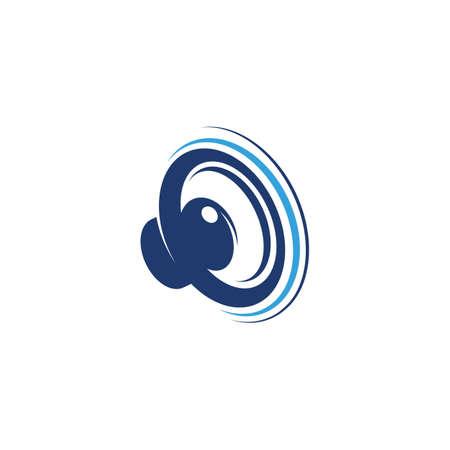 Speaker waves vector illustration design template