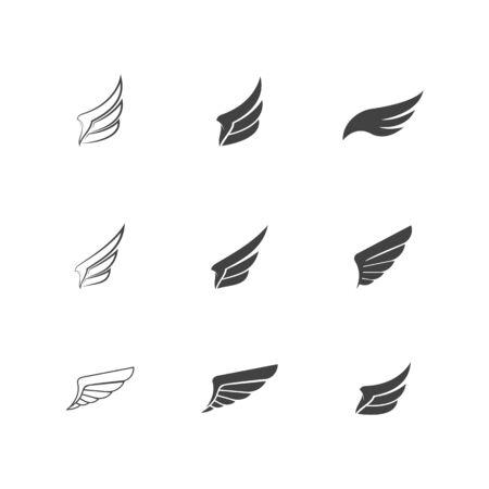 Falcon wing icon Template vector illustration design Vektoros illusztráció