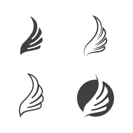 Falcon wing icon Template vector illustration design Vettoriali