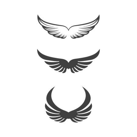 Falkenflügel Symbol Vorlage Vektor-Illustration Design Vektorgrafik
