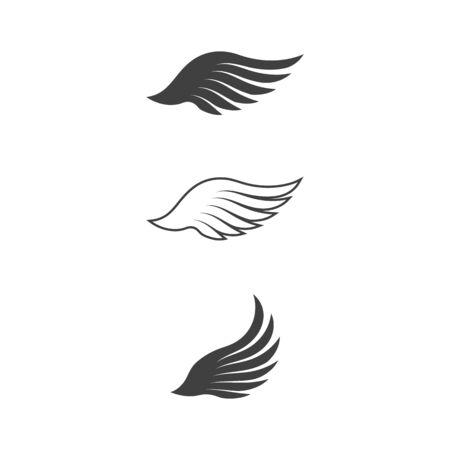 Falcon wing icon Template vector illustration design Çizim