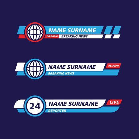 Banner TV vector icon illustration design template