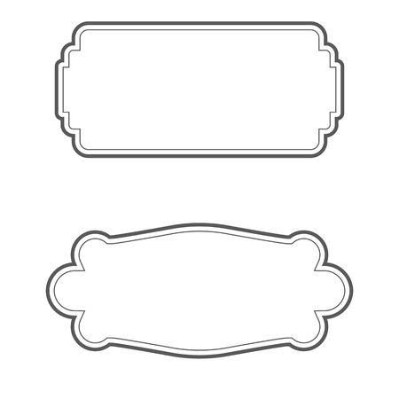 Vintage frame icon Template vector illustration design Vetores