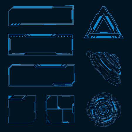 Futuristic user interface illustration design template Stock fotó - 150381050