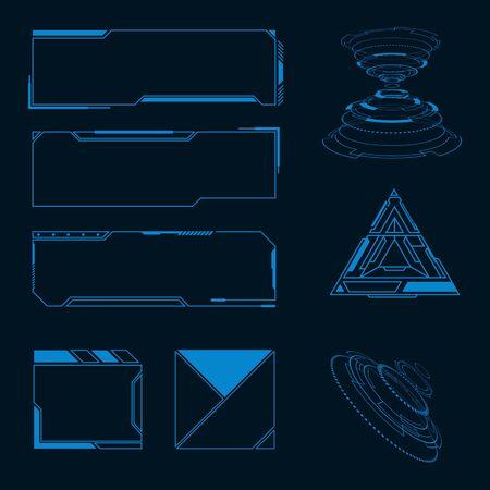 Futuristic user interface illustration design template Stock fotó - 150381045