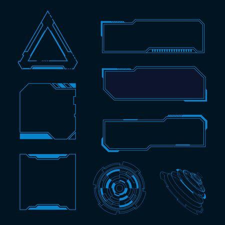 Futuristic user interface illustration design template Stock fotó - 150379966