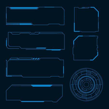 Futuristic user interface illustration design template Stock fotó - 150380189