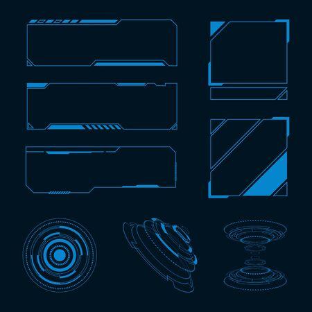 Futuristic user interface illustration design template Çizim