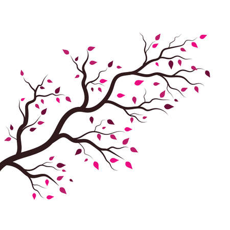 tree branch vector ilustration design template Иллюстрация