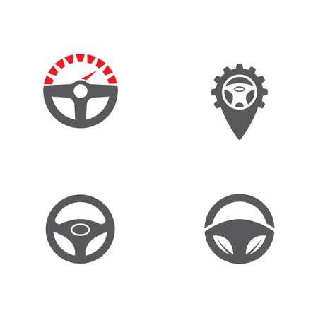 Driver icon Template vector illustration design Vettoriali