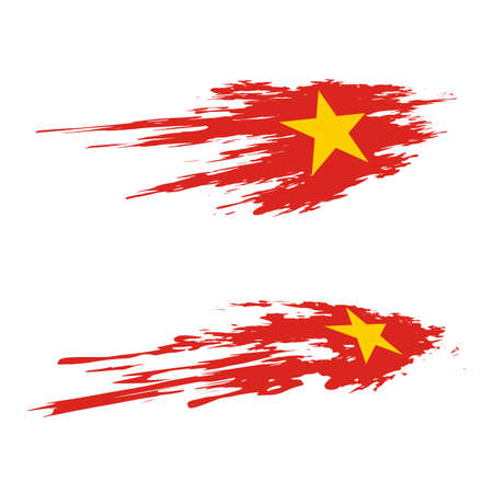 Independence Day of Vietnam icon illustration design Illusztráció