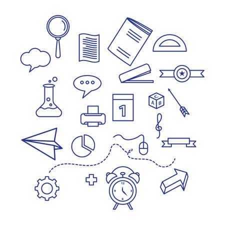 Back to school element icon vector illustration design