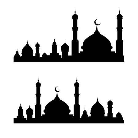 Moslem building vector Illustration design template Vetores