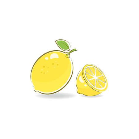 Fresh Lemon icon vector illustration design template
