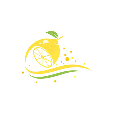 Fresh Lemon icon vector illustration design template